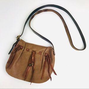 Vintage Lucky Brand Genuine Leather Crossbody Bag